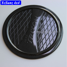 ABS Injection Carbon Fiber Color Gas Tank Cover For Mitsubishi Triton L200 2015 2016 2017 Accessories