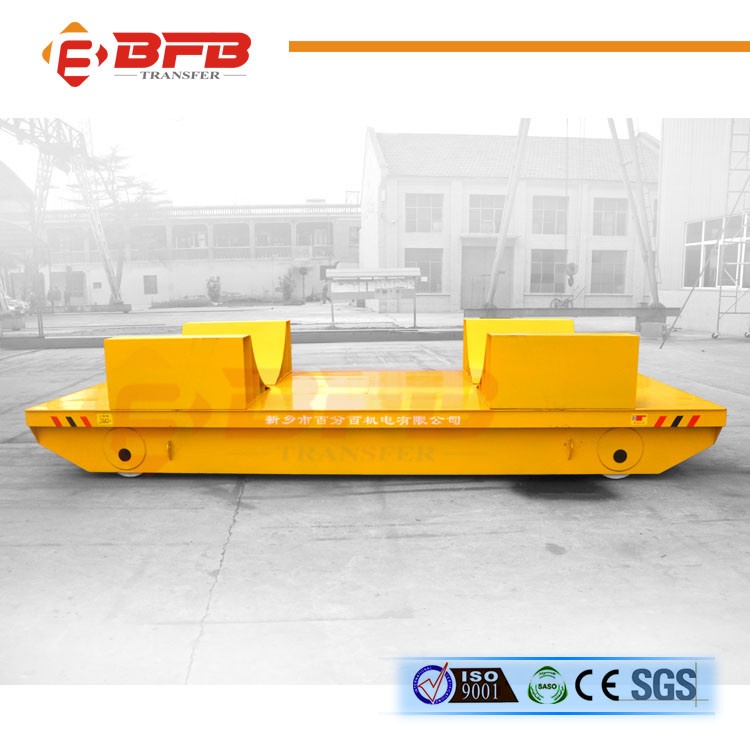 150t large load railway track steel case rail flat car with crane box girder