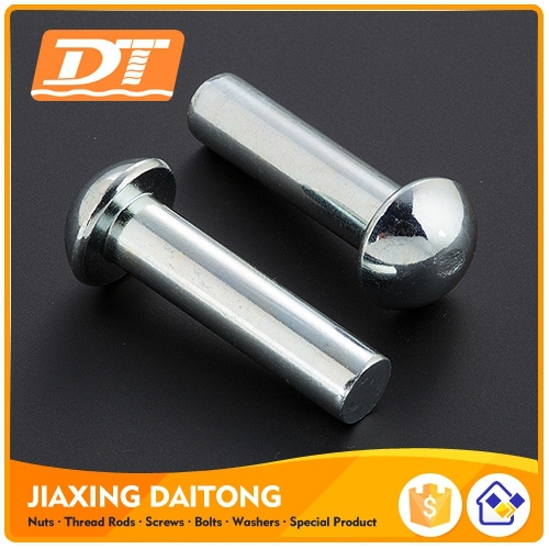 DIN124 Round Head Solid Rivets Steel Round Head Rivets M10-M36 Length 16-160mm Stainless Steel Carbon Steel