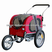 2 in 1 Pet Dog Bike Trailer Bicycle Trailer Stroller Jogger /Suspesion