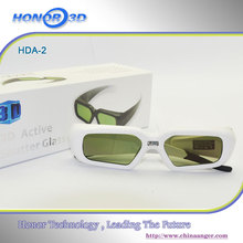3d active shutter glasses for 3d movie with USB changeable for all people