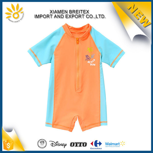 Best quality one piece swimwear printed child sublimated rash guard