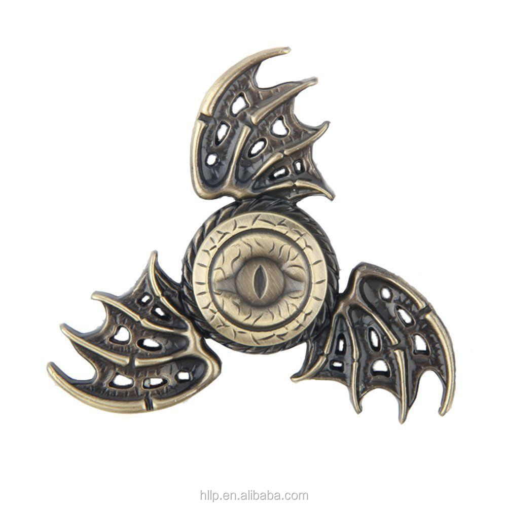 New Magic Clover Eye Bats Metal Tri Hand Spinner Finger Toy EDC ADHD toy