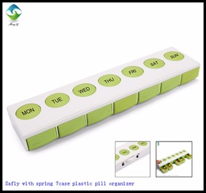 Safely pop-up 7case plastic pill box