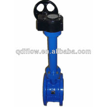 Long stem butterfly valve with concentric disc design