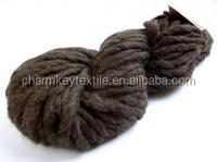 2014 China wholesale fancy wool blended alpaca ball yarn with brown beer color