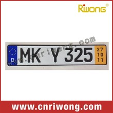 Aluminum European License Plate