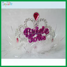 China Cheap Wedding Decorations Pink Party Bride to be Tiara