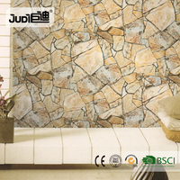 Best price living room interior stone 3d wallpaper for home decoration