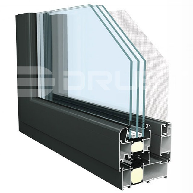 Screen Windows Type and Horizontal Opening Pattern aluminum window