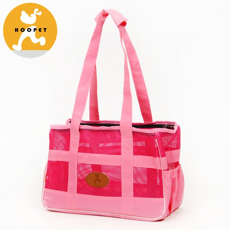 Pet products designer pink mesh toy dog carrier bag