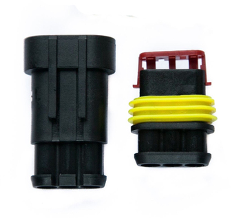 Amp 3 Way Sealed Waterproof Connector for ATV UTV Hotrod - Custom Wiring Harness Factory Supply