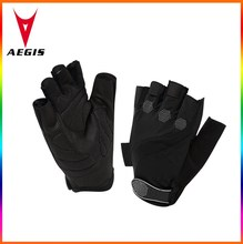 2015 brand new black sports gel half finger bicycle glove/ wholesale cycle half finger glove