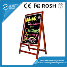 New Invented Promotion Wooden-alike Advertising Led Sandwich Board Diy Drawing Board