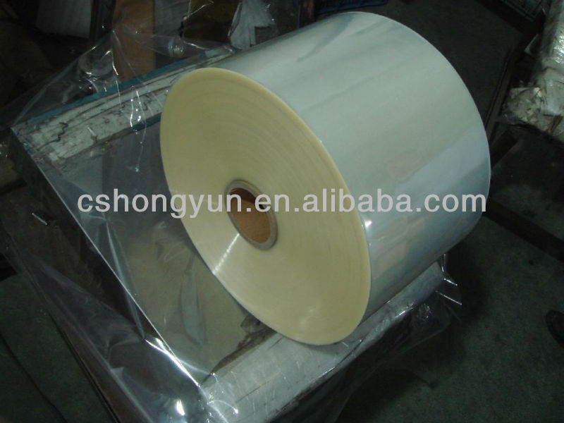 Non-toxic recycled normal clear transparent plastic pvc heat shrink film for printing, laminating with good ink