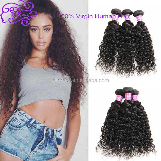 Free shipping unprocessed virgin peruvian hair water wave bundles Cheap 100% hair extensions peruvian virgin hair