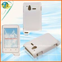 solid white hard cover for Sony-Ericsson Xperia active ST17i