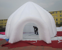 Commercial grade white inflatable oxford cloth tent