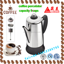 Stainless Steel Electric Coffee maker, coffee percolator, automatic coffee machine