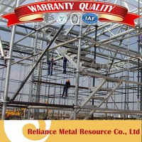 GALVANIZED SCAFFOLDING PIPE WITH JOINT
