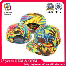 Custom Plant Digital Print Pattern 5 Panel Camper Hat
