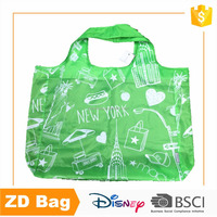 Fashion Style Cheap Polyester Colorful Pattern Folding Shopping Bag