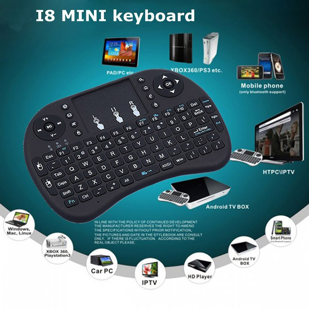 i8 mini keyboard for x96 smart android tv box 2.4G wireless air mouse chargable