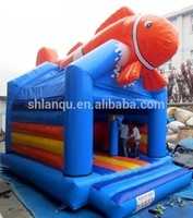 inflatable fish animal inflatable jumping castle for sale