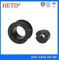 HETD brand China High quality black oxided standard small timing belts and pulley