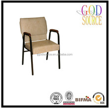 Hot selling hotel furniture design used stacking metal church chair