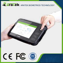 "Fingerprint sensor FIPS/FAP20 and STQC certified, 7"" Android OS fingerprint handheld tablet"