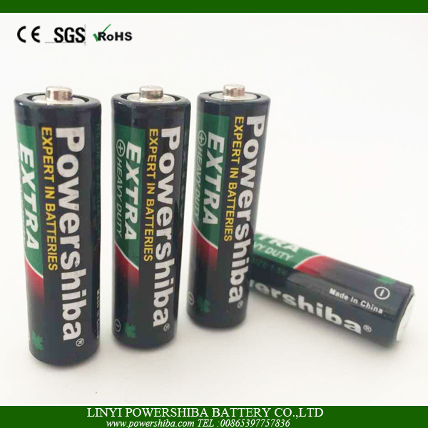 1.5V Carbon Zinc Size AA UM-3 Battery With PVC Jacket