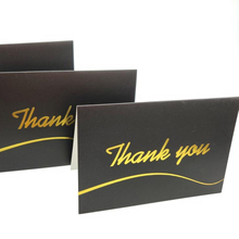 100 Thank You Cards with White Envelopes with Gold Foil Embossed Lettering