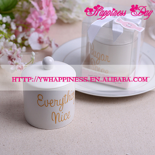 """Sugar, Spice and Everything Nice"" Ceramic Sugar Bowl Wedding Favors and Gifts"