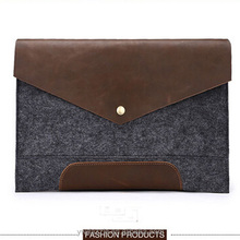 High quality very practica felt document bag with leather