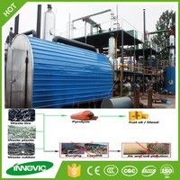Large capacity continuous tire recycling plant to crude oil