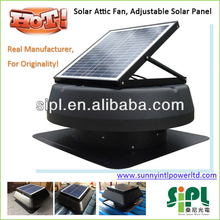 2014 venta caliente! 14 pulgadas ventilador cuchillas 20 vatios panel solar powered cepillo de motor dc air conditioner ventilador