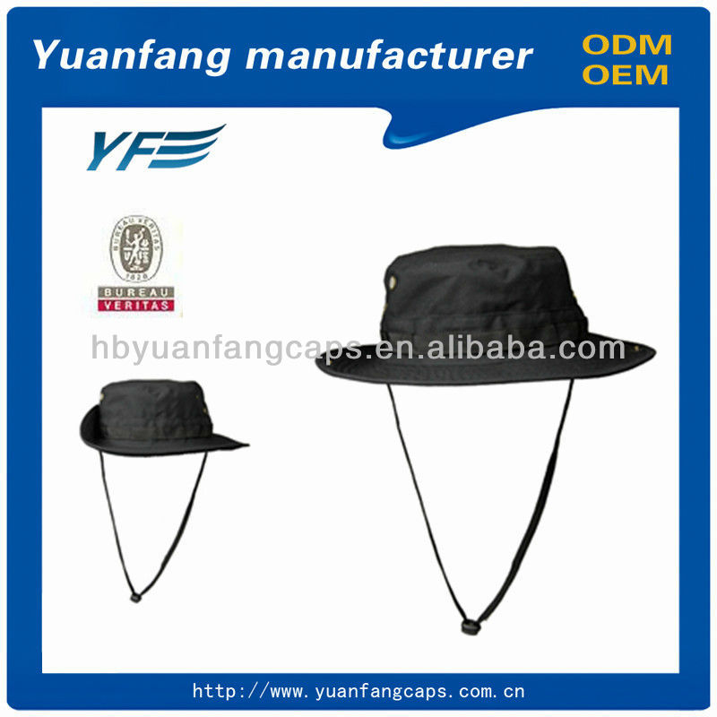 Men fashion custom made bucket hat with string
