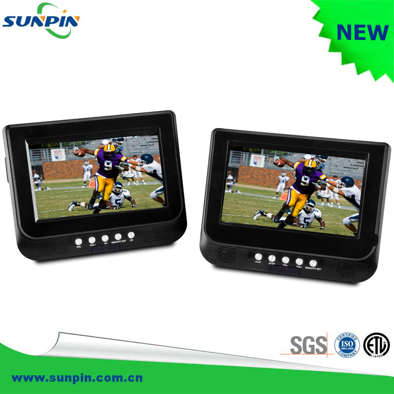 7 Inch HD LCD Headrest Monitors DVD Players support NTSC/PAL/SECAM, Portable Dual Screen Car DVD Player