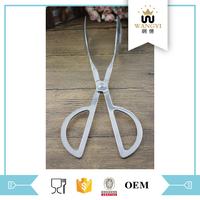 Scissors shape stainless steel serving long tongs from china supplier