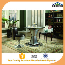 Foshan cohen furniture new style solid wood frame with aluminum outside dining table HT012