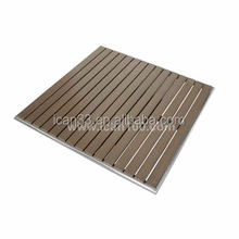 Commerial garden dining teak wood slats dining table top(pwt-108)