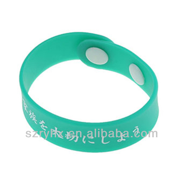 New design printable custom silicone bracelet with button