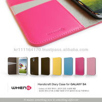 Skin Leather case for Samsung galaxy s4(by hand made)