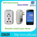 wireless wifi smart wall socket with USB plug support to control your home appliance and a convenience intelligent wifi socket