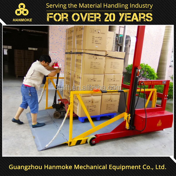2017 Portable truck ramp lift loading platform mobile dock leveler
