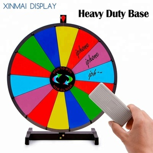 "14 Clicker Slots 18"" Round Tabletop Color Dry Erase Spinning Board Prize Wheel"