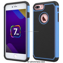 China factory hight quality 3 IN 1 cell phone case for iphone 7 plus, Non-slip Great Feel case for Apple iphone7 plus