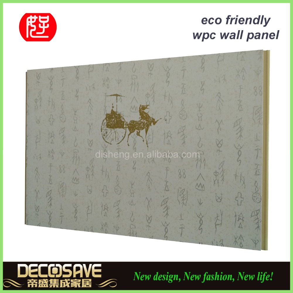 easy install decorative wall panel / wood plastic composite panel / decorative wall covering panels