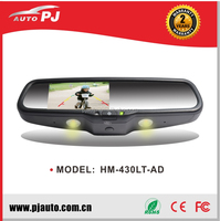 OEM Car Rearview Mirror Monitor Auto Dimming & Light, Specific Interchangeable Bases for Partial Peugeot (HM-430LT-AD#91)